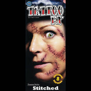stitched wound makeup fx tattoos