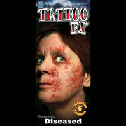 Diseased temporary tattoo