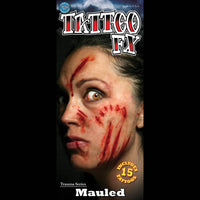 Mauled special effects makeup tattoos