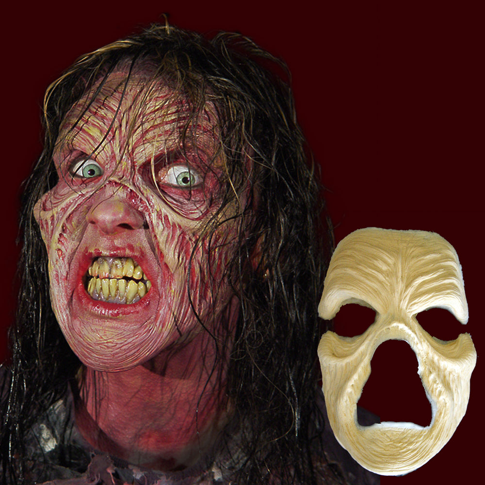 withered zombie face costume mask