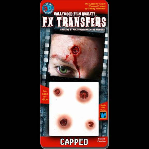 Capped bullet hole spfx makeup