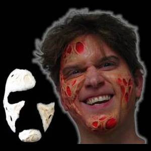 toasty halloween wound latex mask