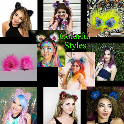 Furry Ears -Colorful and Sparkly Styles