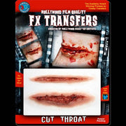 cut slashed throat 3d transfer sfx halloween