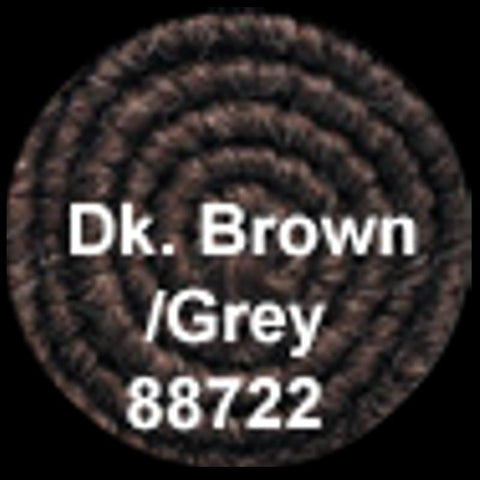 Dark Brown/Grey Crepe Hair