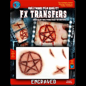engraved 3d transfer pentagram makeup