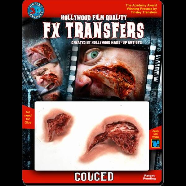 Gouged 3d fx transfers for Flesh wound tattoo