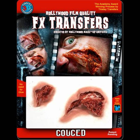 gouged skin flesh 3d transfer sfx makeup