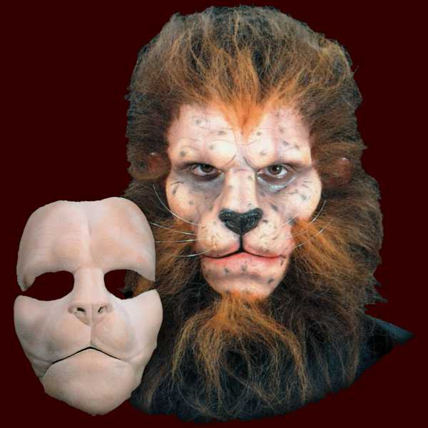 Foam latex//Wizard Of OZ Lion//Face//Brows//Mask