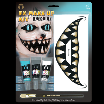 Tinsley Big Mouth Tattoo FX /'Two Faced/' Large Grin Halloween Effects