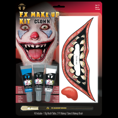 Big Mouth Clown Makeup kit