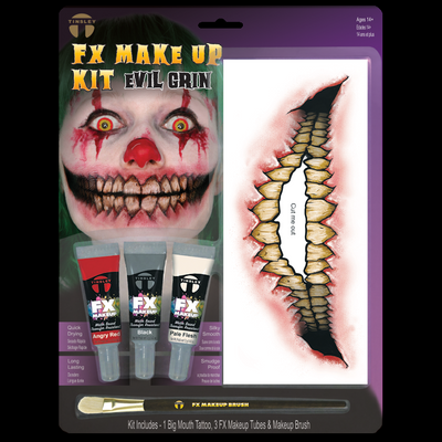 Big Mouth Evil Grin Makeup kit