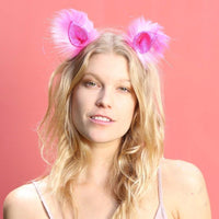 Pink Patch clip-on ears