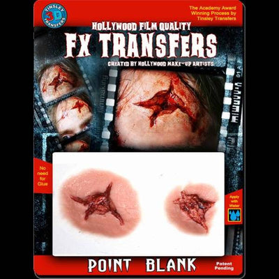 point blank bullet wound 3d transfers appliance