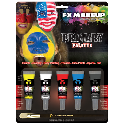 Water makeup kit primary colors