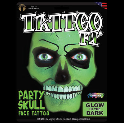 Party Skull -Glow in the Dark