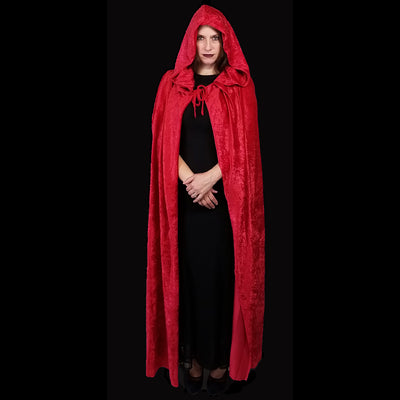 Long Red Velvet Cloak 63