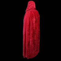 Long Red Velvet Cloak 63""