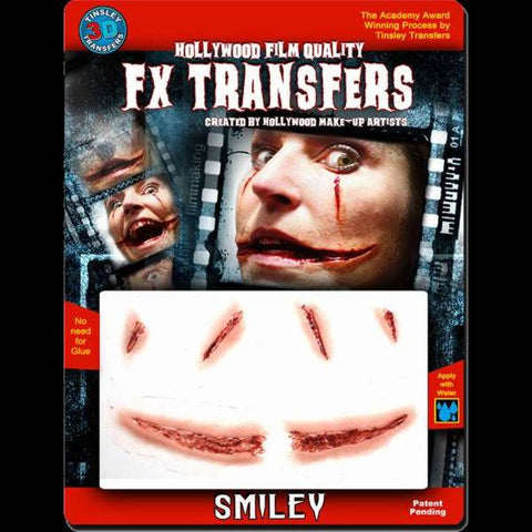 smiley cut wound 3d fx transfer makeup