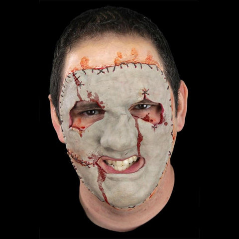 stitched on face halloween mask