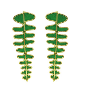 Fishbone Color earrings