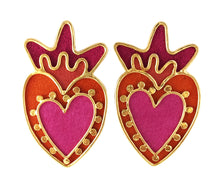 Load image into Gallery viewer, Corazón y Puntos earrings