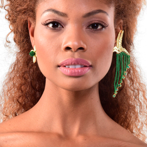 Colibri & Flower earrings