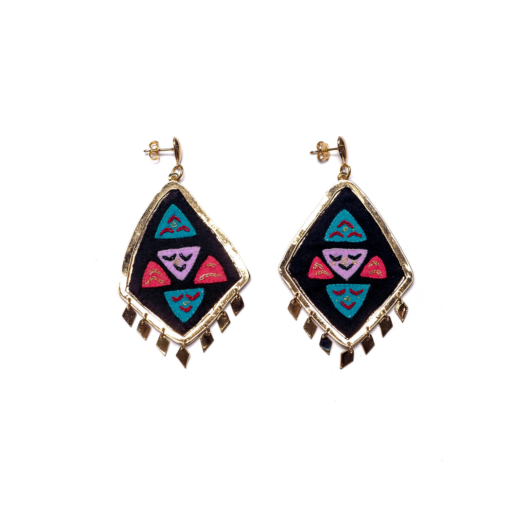 Rombo Mola earrings