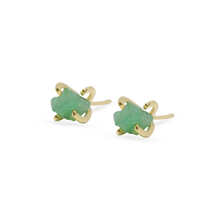 Load image into Gallery viewer, Emerald earrings pin