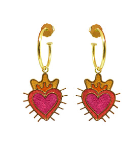 Mini Hoops Sagrado Corazón - Earrings