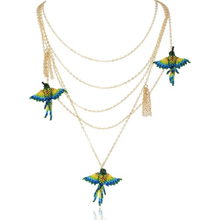 Load image into Gallery viewer, Waterfall Hummingbird necklace