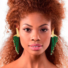 Load image into Gallery viewer, Colibri Emerald earrings