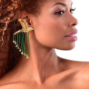 Colibri Emerald earrings