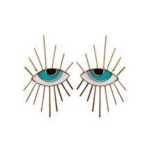 Load image into Gallery viewer, Eye Eyelash earrings