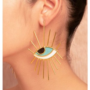 Eye Eyelash earrings