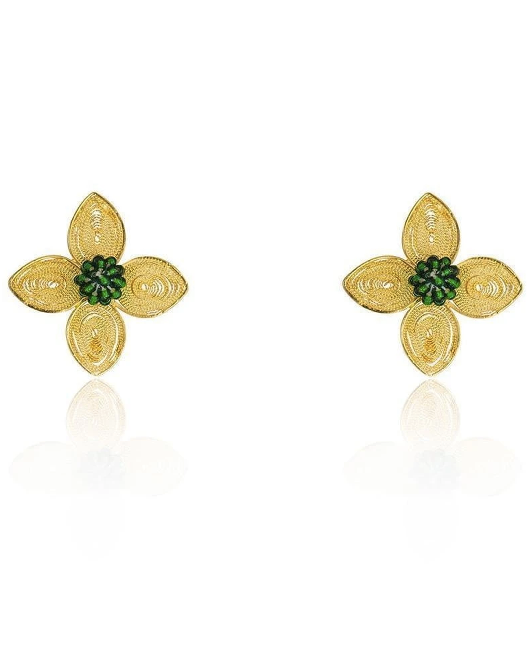 Filigree Colibri Flower earrings
