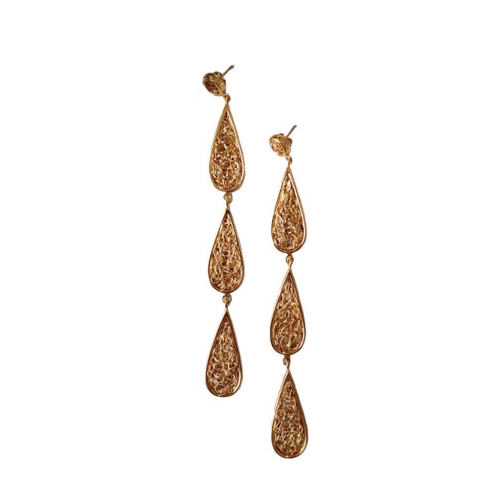 Triple Gota earrings