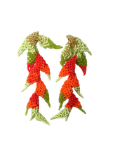 Load image into Gallery viewer, Heliconia earrings