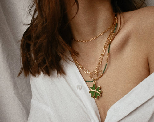Clover Link Chain necklace set