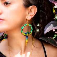 Load image into Gallery viewer, Circle Jungle earrings