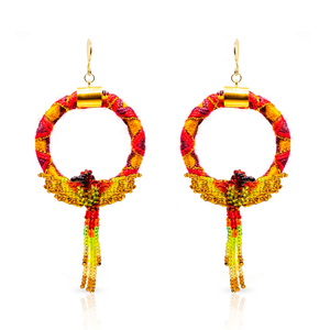 Circle Jungle earrings