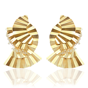 Mujura Mate Gold Swarovski earrings