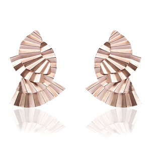 Mujura Mate Rose Gold earrings