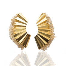 Load image into Gallery viewer, Ruche Swarovski earrings