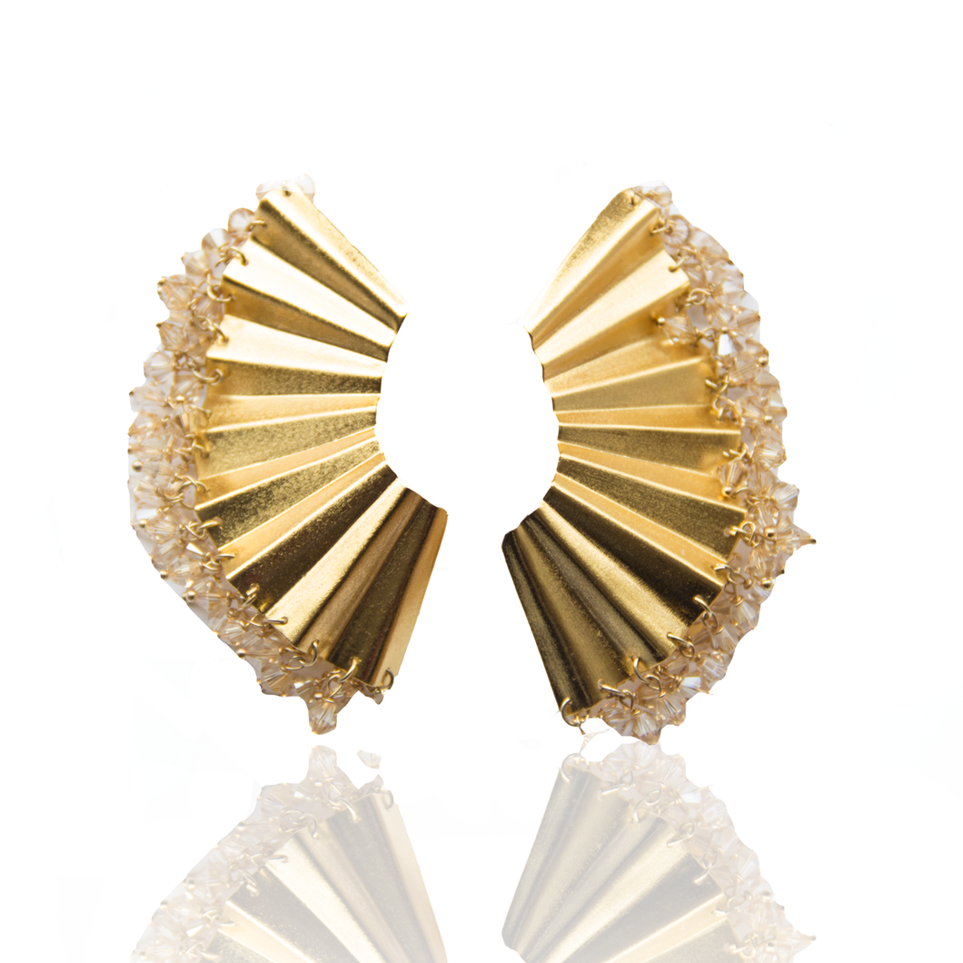 Ruche Swarovski earrings