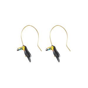 Spiral Tucan earrings
