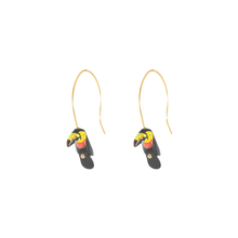 Load image into Gallery viewer, Spiral Tucan earrings