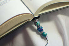 Load image into Gallery viewer, Bejeweled Blue Beaded Bookmark