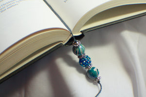 Bejeweled Blue Beaded Bookmark