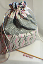 Load image into Gallery viewer, Lucky Stars - Knitting Project Bag - Bag and Stitch Markers SET